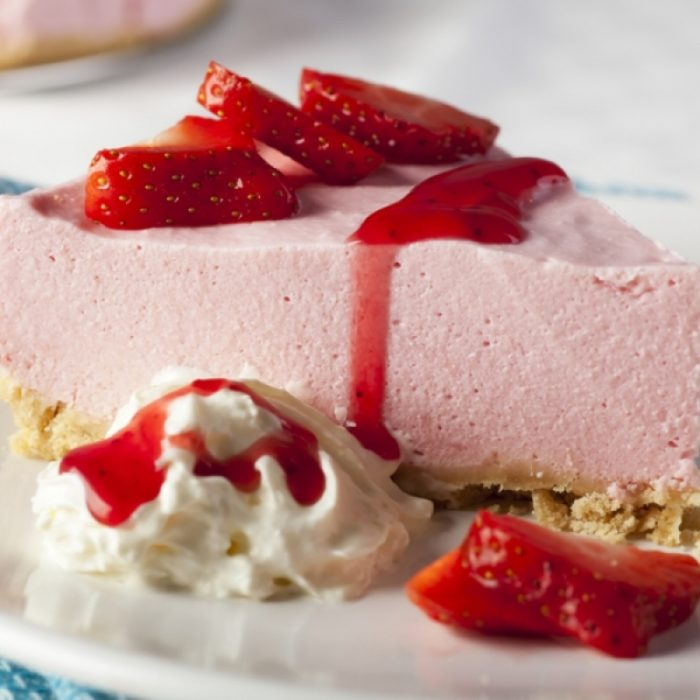 Strawberry Mousse Cheesecake Recipe ⋆ By Pink