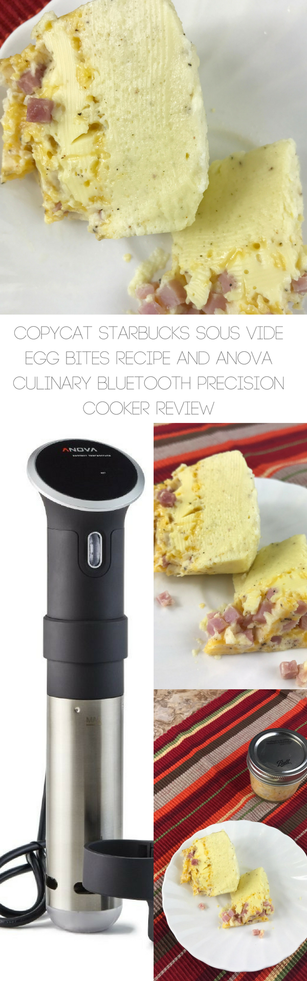 Copycat Starbucks Sous Vide Egg Bites Recipe and Anova Culinary Bluetooth Precision Cooker Review