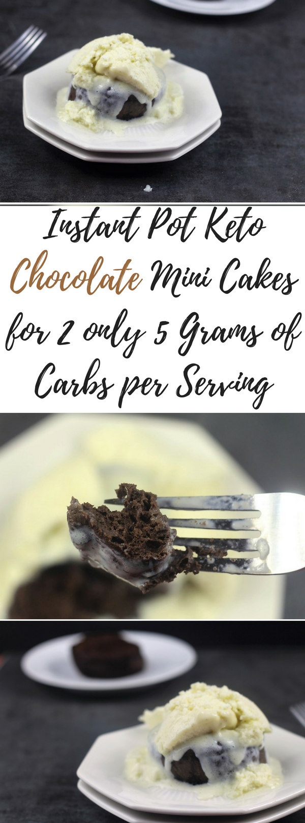 Instant Pot Keto Chocolate Mini Cakes