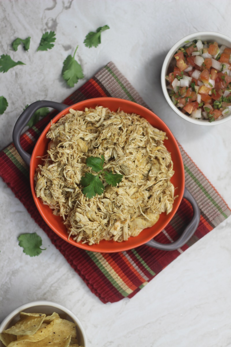 Instant Pot Chili Cilantro Lime Shredded Chicken ⋆ by Pink