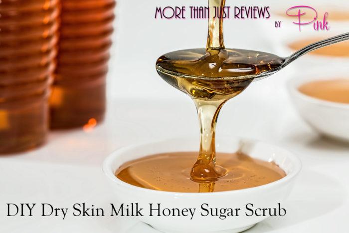 DIY Dry Skin Milk Honey Sugar Scrub