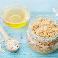 DIY Dry Skin Oatmeal Milk and Honey Sugar Scrub Recipe