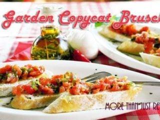 Olive Garden Copycat Bruschetta