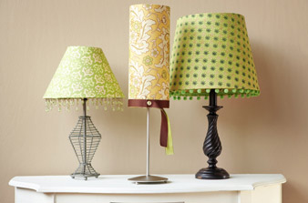 DIY Lamp Shade Refashion