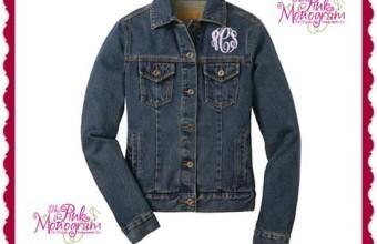 Pink Monogram Denim Jacket #Giveaway $85 arv US Only