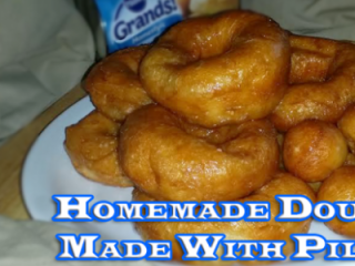 Homemade Doughnuts made with Pillsbury Grands Biscuits