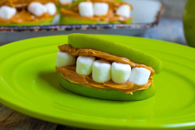 halloween healthy treat monster teeth