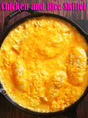 Campbell's Soup Cheesy Chicken and Rice Skillet Recipe