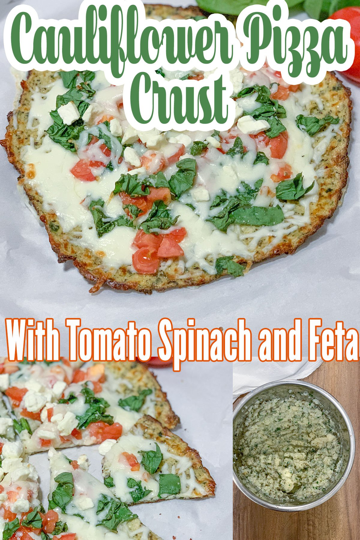 This cauliflower pizza crust is the best and you can top it with your favorite pizza ingredients for the tastiest low carb lunch or dinner option! #easy #recipe #low #carb #lowcarb #keto # healthy #vegan #vegetarian #how #to #make
