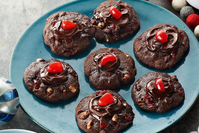 Cherry-Chocolate Volcano Cookies