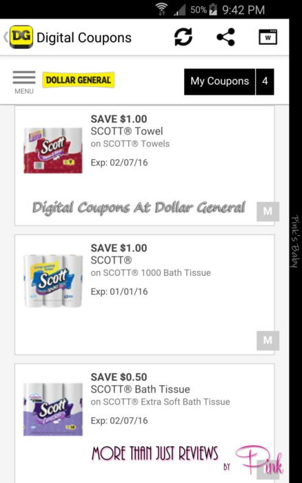 Digital Coupons At Dollar General 1