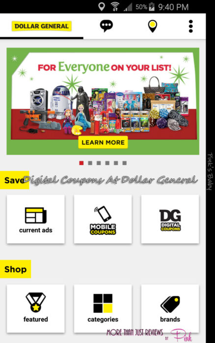 Digital Coupons At Dollar General
