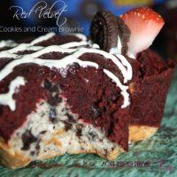 Red Velvet Cookies and Cream Brownies Recipe
