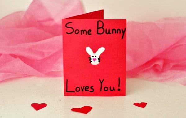Easy Homemade Bunny Love Valentine's Card