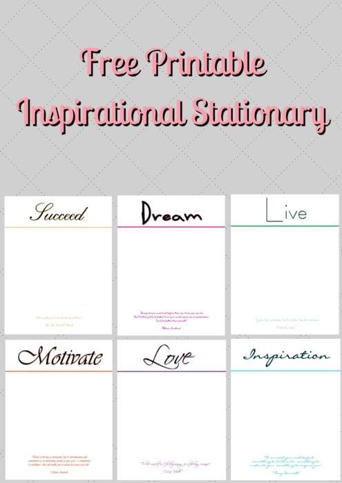 Free Printable Inspirational Stationary