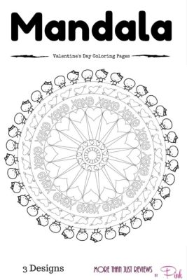 Mandala Art Inspired Valentine's Day Coloring Pages