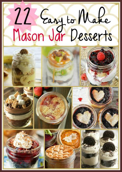 MASON JAR DESSERTS