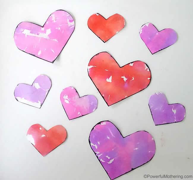 Tissue Bleed Valentine Hearts