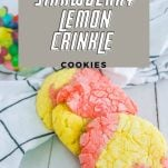 Strawberry Crinkle Cookies With Lemon