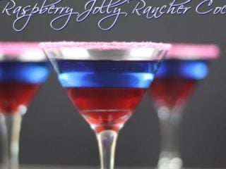 Just because you're a grown-up, doesn't mean your drinks have to be too. Take this Blue Raspberry Jolly Rancher Cocktail. It pairs a childhood favorite with a grown-up favorite. This blue raspberry cocktail would be great for a 4th of July gathering.