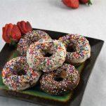 Strawberry Cake Doughnuts