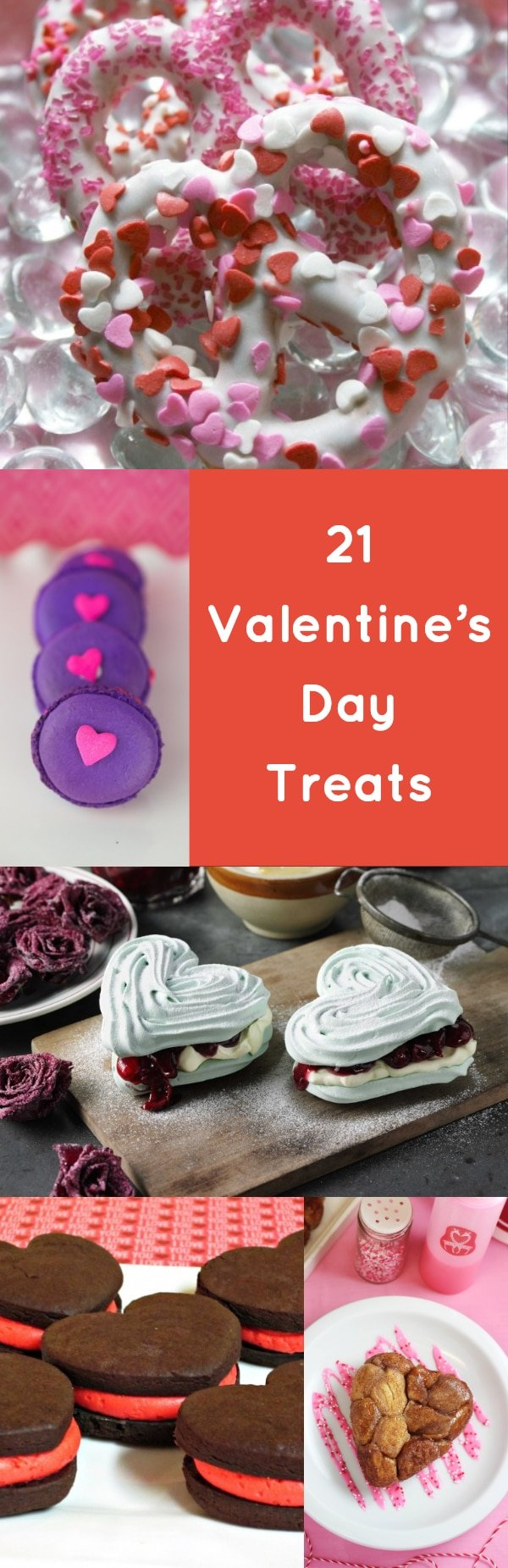 Valentine's Day Treats are the perfect excuse to break out everything red and pink, to decorate with hearts, and just revel in the feeling of being loved and showing others how much you love them. #easy #desserts #party #cute