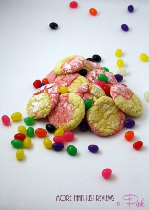Strawberry Lemon Crinkle Cookies