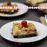 Banana Split Cheesecake Bars Recipe