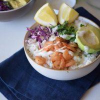 Gluten Free Mexican Shrimp Bowl