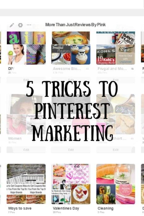 5 Tricks to Pinterest Marketing