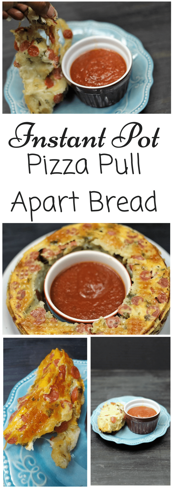 Instant Pot Pizza Pull Apart Bread ⋆ By Pink