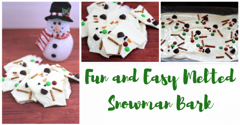 Fun and Easy Melted Snowman Bark