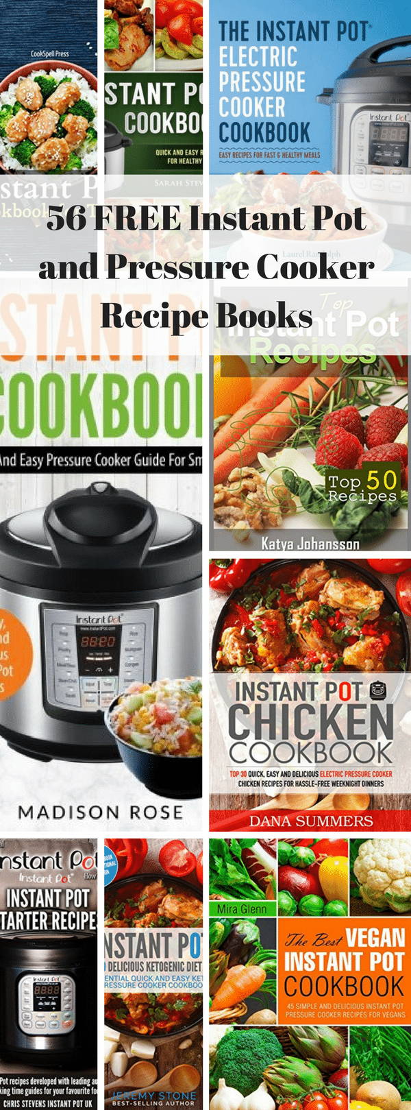 FREE Instant Pot and Pressure Cooker Recipe Books