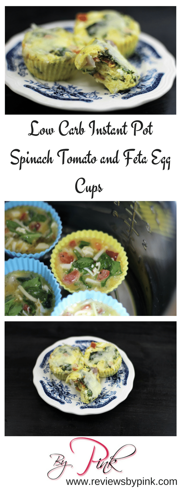 Low Carb Instant Pot Spinach, Tomato and Feta Egg Cups