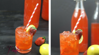Fermented Strawberry Lemon-aid Soda