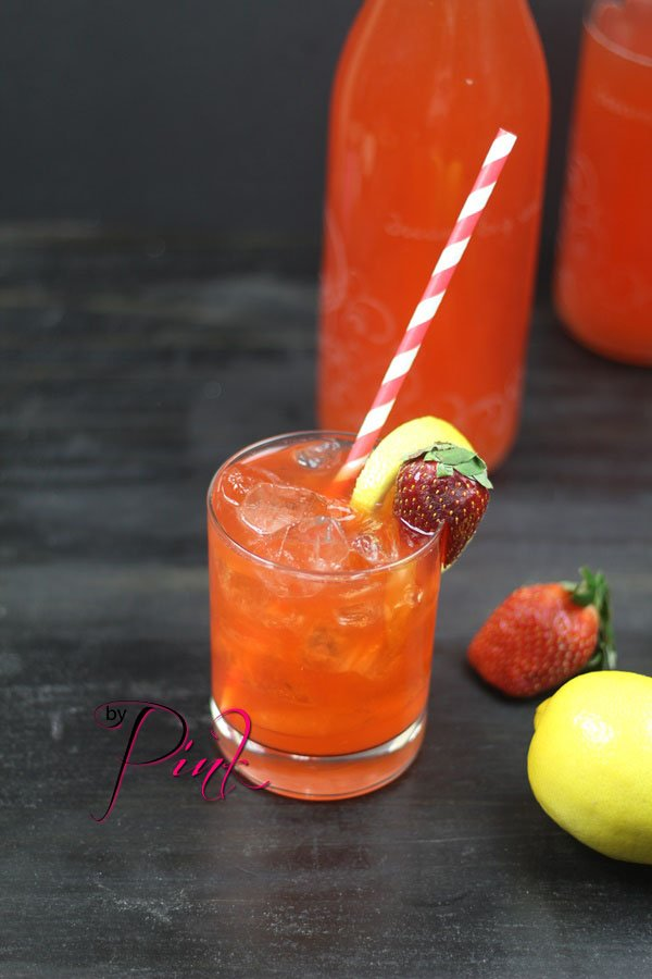 Fermented Strawberry Lemon-aid Soda
