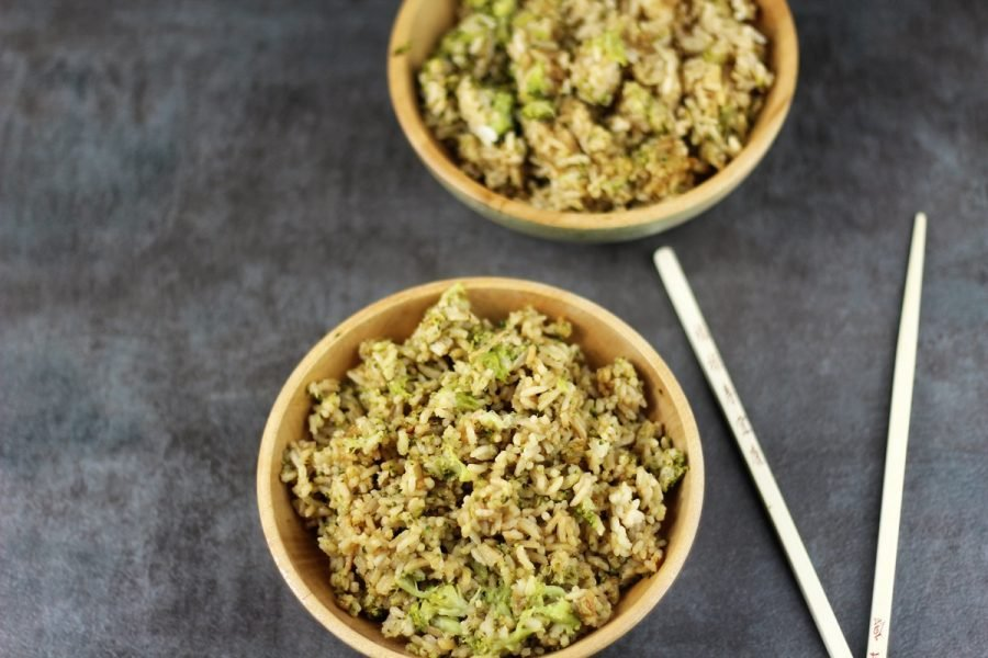 Instant Pot Asian Inspired Broccoli Rice