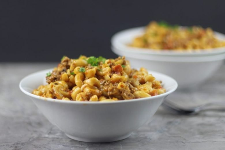Instant Pot Cheeseburger Macaroni Hamburger Helper is an awesome almost effortless, homemade hamburger helper. I promise you will never go back to the boxed hamburger helper recipe!