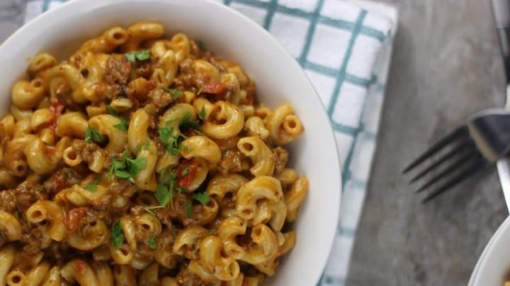 Instant Pot Cheeseburger Macaroni Homemade Hamburger Helper Recipe