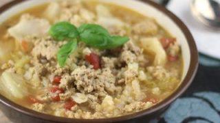 Instant Pot Low Carb Un-Stuffed Cabbage Roll Soup
