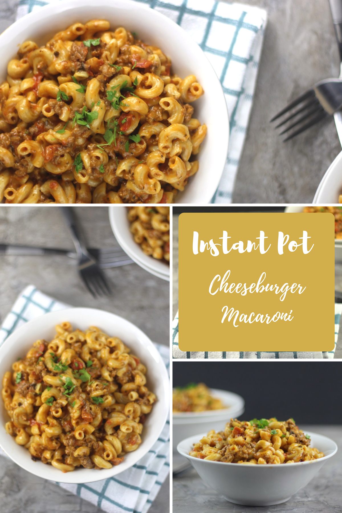 My Instant Pot Cheeseburger Macaroni (Homemade Hamburger Helper Recipe) is an awesome almost effortless, homemade hamburger helper. The taste makes it seem like you slaved over this meal, and I myself, being that I am often dramatic would pretend to have spent hours on it. I promise you will never go back to the boxed version of this hamburger helper recipe!  #instantpot #pressurecooker #pressurecooking #copycat #cheeseburger #hamburgerhelper