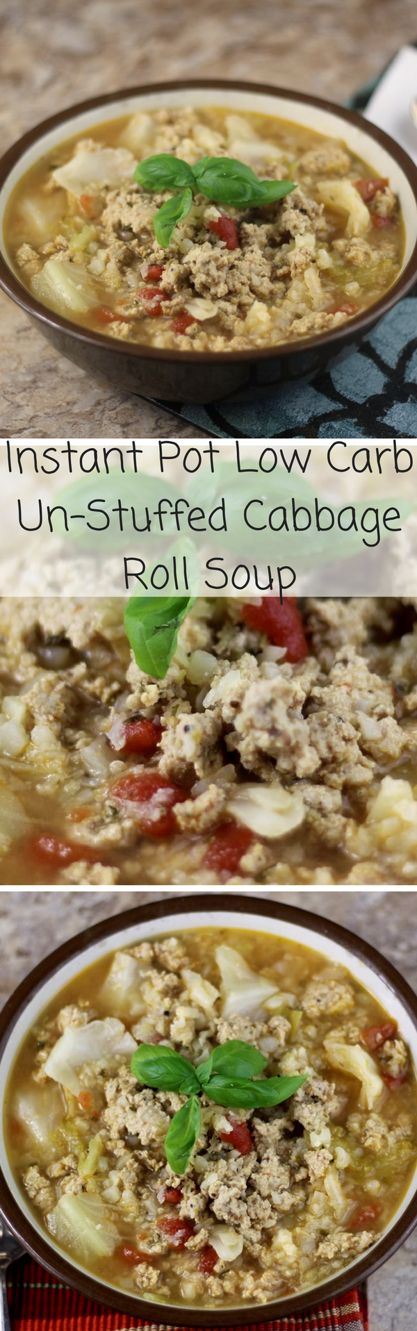 Instant Pot Low Carb Un-Stuffed Cabbage Roll Soup