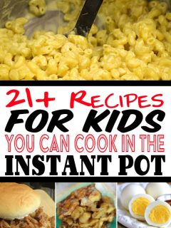 pin collage with recipes you can make for kids
