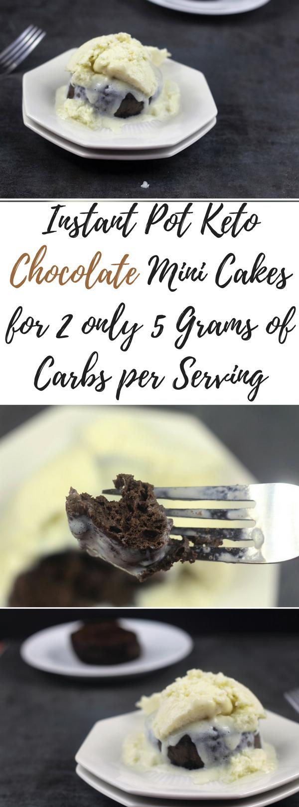 Instant Pot Keto Chocolate Mini Cakes