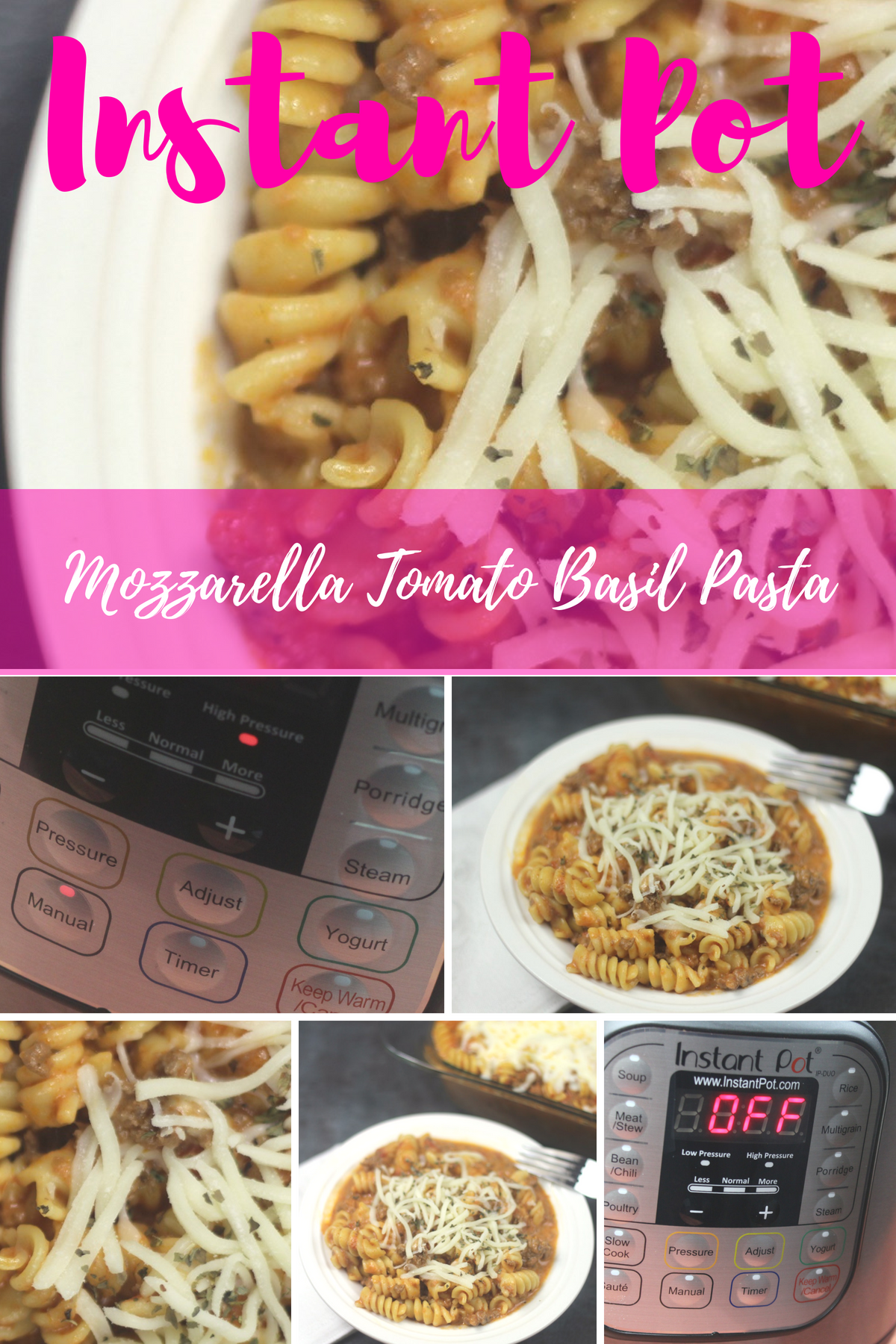 This Instant Pot Mozzarella Tomato Basil Pasta turned out great and everyone loved the flavors. This turned out to be a really easy tomato pasta recipe. If you are looking for an awesome Instant Pot pasta recipe, this is it! #tomatobasil #instantpot #mozzarella #pastarecipe #easyrecipe
