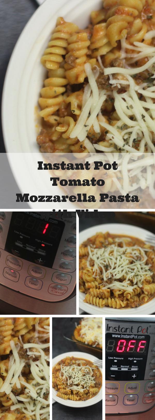 Instant Pot Tomato Mozzarella Pasta with Video