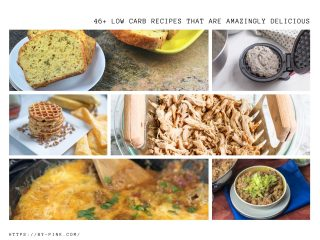 collage for a list of 50 low carb recipes