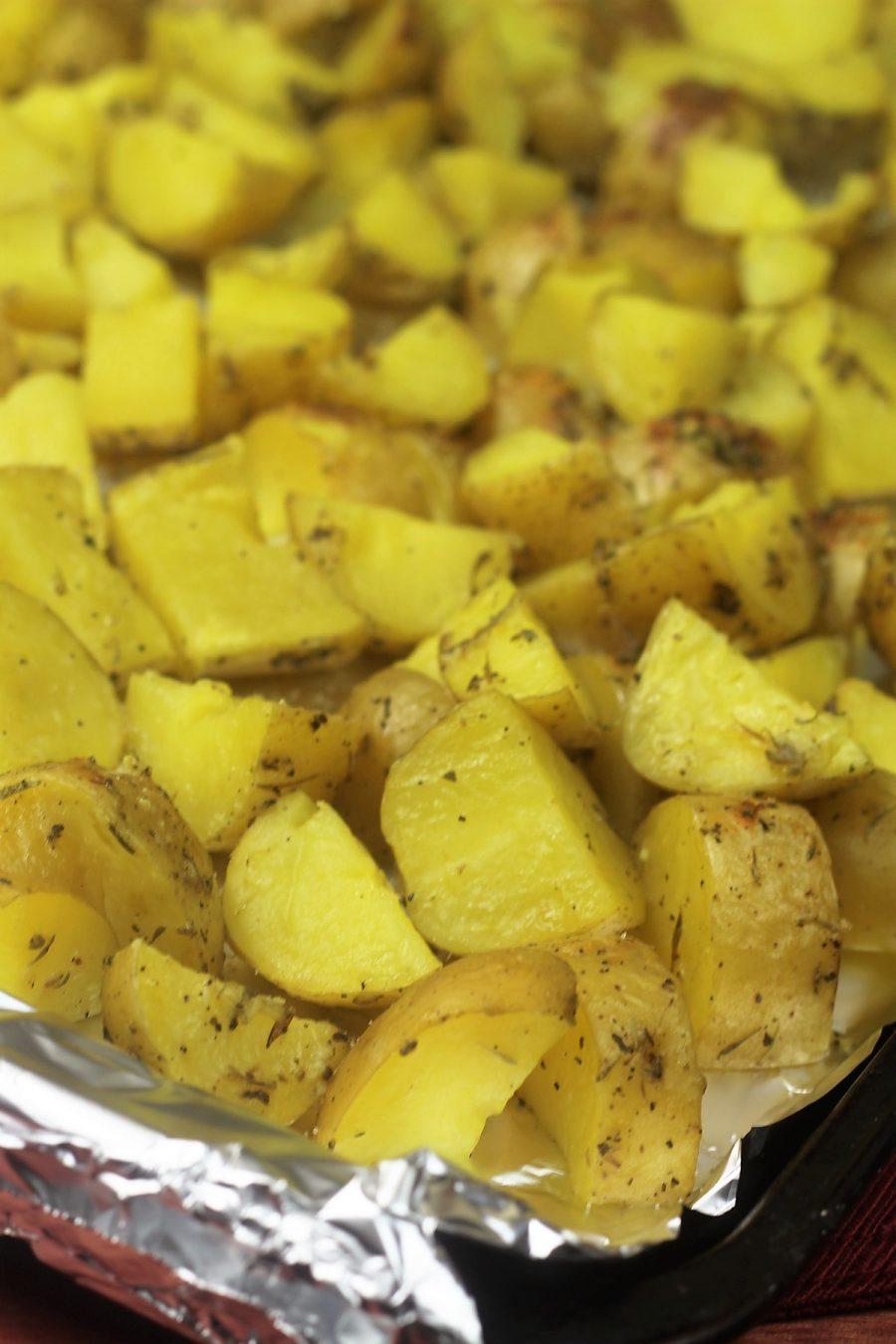 Instant Pot Garlic Parmesan Potatoes