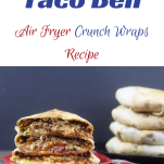 Copycat taco bell crunchwrap on a red plate