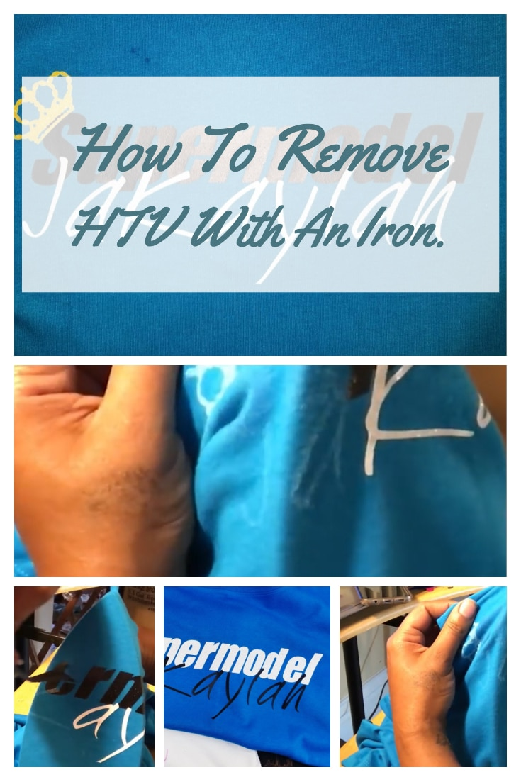 Recently I started a custom vinyl business. I found out quickly that sometimes you screw up and you will need to remove the already heat pressed Heat Transfer Vinyl. In this post, you will learn How To Remove HTV With Iron. #htv #heattransfervinyl